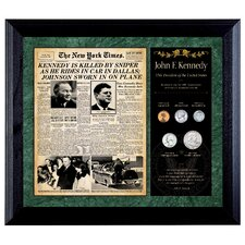New York Times JFK Assassination Framed Memorabilia