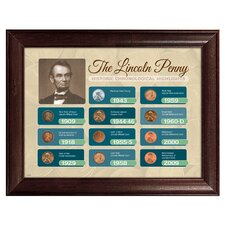 The Lincoln Penny Historical Chronological Highlight Framed Memorabilia
