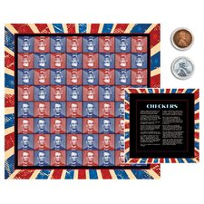 Lincoln Coin Checker Set