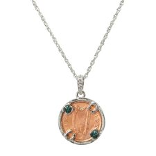 Lucky Irish Penny Circle Pendant