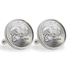 Nickel Bison Cufflinks