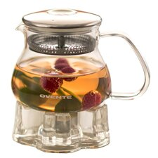 17 Oz. Glass Teapot with Warmer