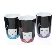 Kokeshi Thermal Mug (Set of 3)