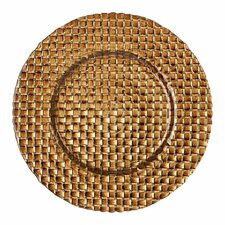 "<strong>BBJ Linen</strong> Braid 13"" Glass Charger Plate"