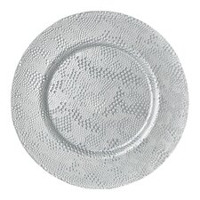 "13"" Rain Glass Charger Plate"