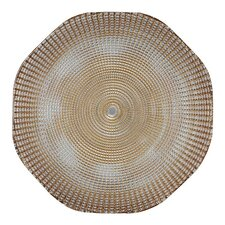 "<strong>BBJ Linen</strong> Eternity 13"" Glass Charger Plate"