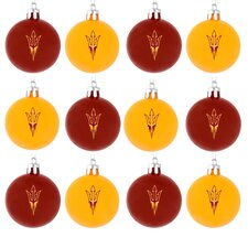 <strong>Forever Collectibles</strong> NCAA Plastic Ball Ornament (Set of 12)