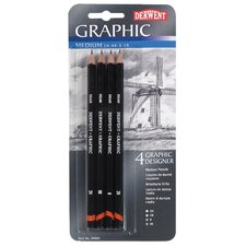 Graphic Drawing Designer Pencil (Set of 4)