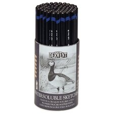 Water Soluble Graphite Sketching Pencil (Set of 72)