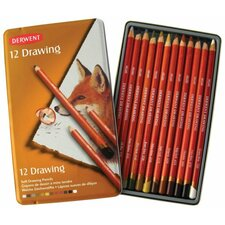 <strong>Derwent</strong> Drawing Pencil Color Tin (Set of 12)