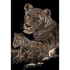 <strong>Royal & Langnickel</strong> Lioness and Cub Art Engraving