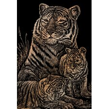 <strong>Royal & Langnickel</strong> Tiger and Cubs Art Engraving