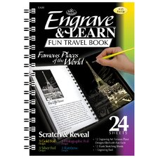 Engrave and Learn Famous Places of the World Fun Travel Book