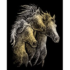 Horses Art Engraving