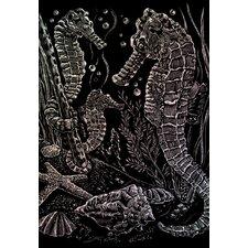 Holographic Sea Horses Art Engraving