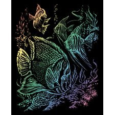 Rainbow Tropical Fish Art Engraving