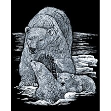 Polarbear and Cub Art Engraving