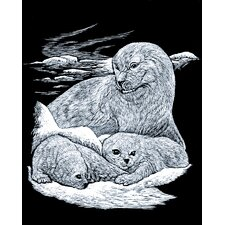 Seal and Puppy Art Engraving
