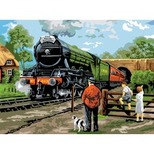 Painting by Numbers Steam Train Adult Set