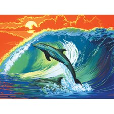 Painting by Numbers Artist Canvas Series Dolphin Surf Set