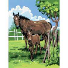 Painting by Numbers Small Mare and Foal Junior Set