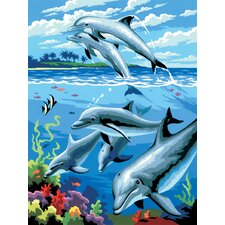 Painting by Numbers Small Dolphins Junior Set