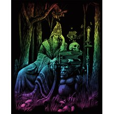 Rainbow Wizard Art Engraving