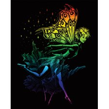 Rainbow Dancing Fairy Art Engraving
