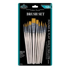 Combo Taklon Brush Set 12 Piece Set