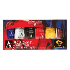 Academy Acrylic Paint (Set of 6)