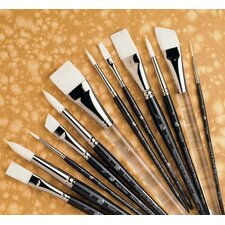 Short Handle Acrylic Round Brush