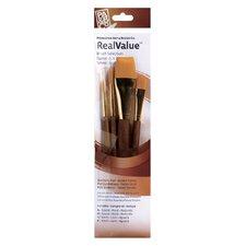 RealValue Golden Taklon Brushes (Set of 4)