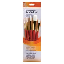 White Taklon Brushes (Set of 5)