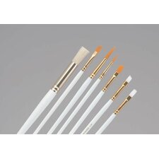 <strong>Princeton Artist Brush</strong> Round, Flat and Shader Brush (Set of 4)