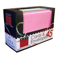 A7 Cards And Envelope Box (Set of 45)