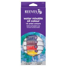 Water Soluble Oil Color Paint (Set of 12) (Set of 12)