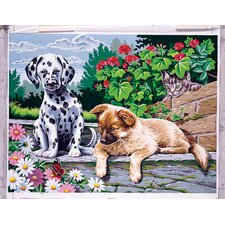 Paint By Numbers Large Dogs Painting