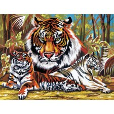 Paint By Numbers Large Tigers Painting