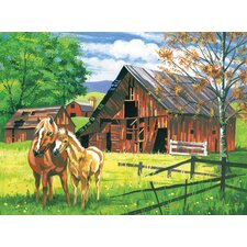 Paint By Numbers Large Red Barn Painting