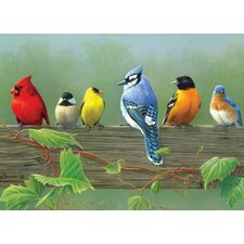 Paint By Numbers Rail Birds Painting