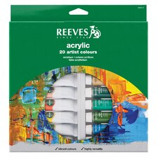 <strong>Reeves</strong> Acrylic Paint (Set of 20)