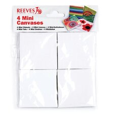 Mini Canvases in Poly Bag (Set of 4)