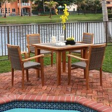 <strong>Panama Jack Outdoor</strong> Leeward Islands 5 Piece Dining Set