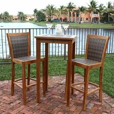 <strong>Panama Jack Outdoor</strong> Leeward Islands Pub Table and Barstool Set