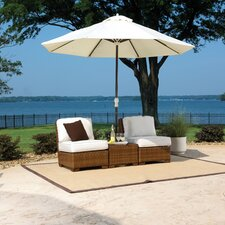 St Barths 3 Piece Deep Seating Group with Cushion