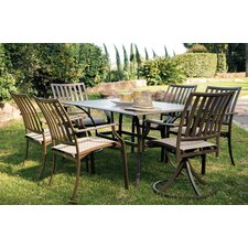 Island Breeze 7 Piece Slatted Dining Set