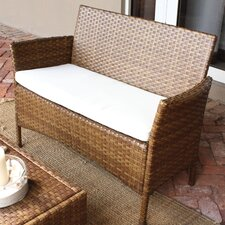 <strong>Panama Jack Outdoor</strong> St Barths Loveseat with Cushion