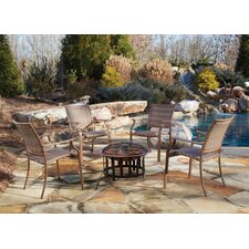 Island Cove 5 Piece Seating Group and Fire Pit Set