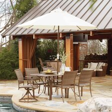 Island Cove 7 Piece Dining Set with Umbrella