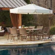 Island Cove 9 Piece Dining Set with Umbrella